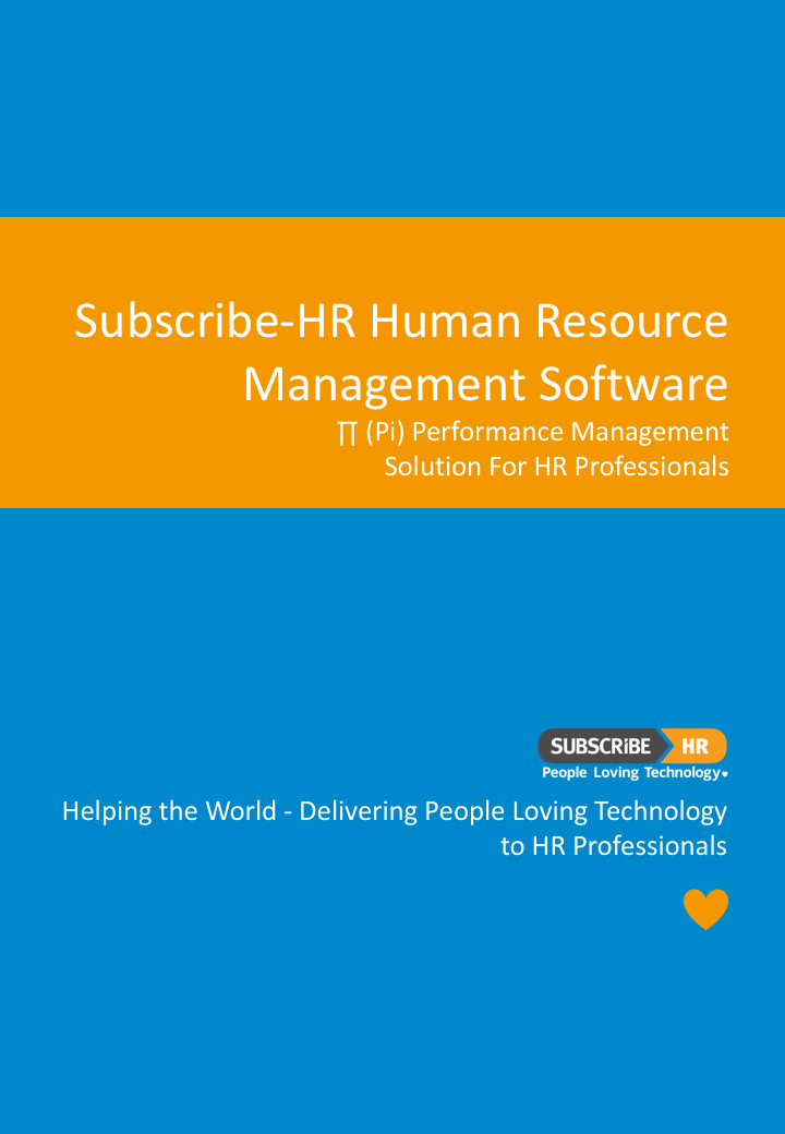 Subscribe-HR HR Software Performance Management Solution