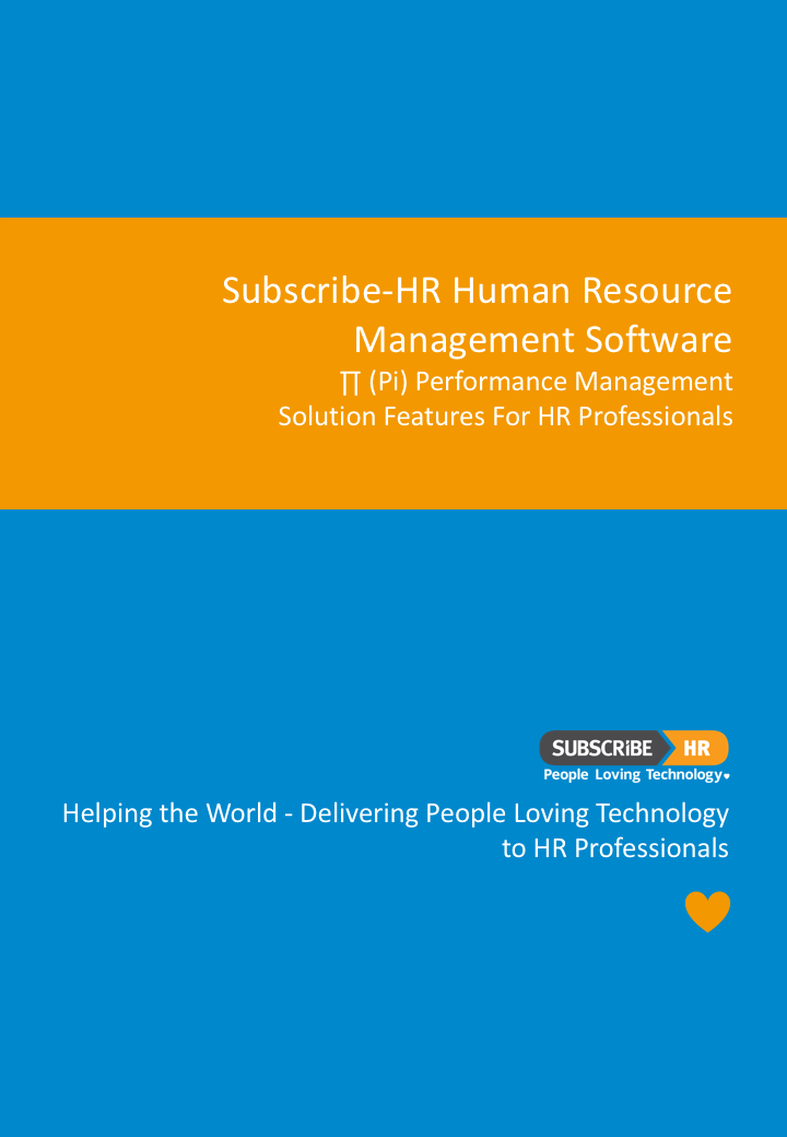 Subscribe-HR HR Software Performance Management Solution Features