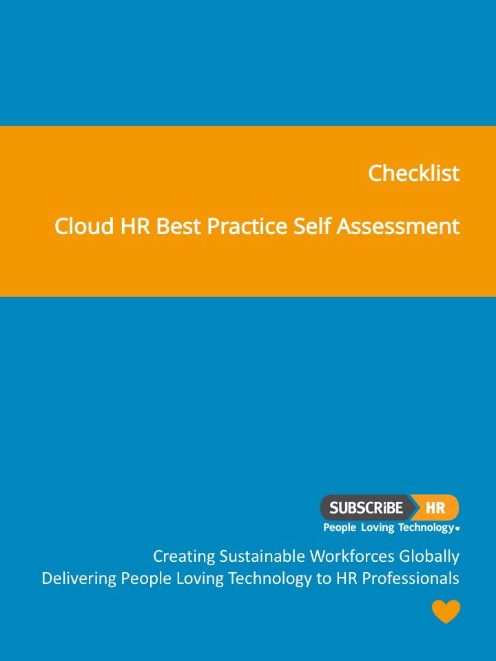 Subscribe-HR Checklist Cloud HR Best Practice Self Assessment