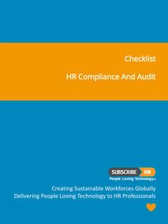 HR Compliance & Audit | Checklist | Subscribe-HR