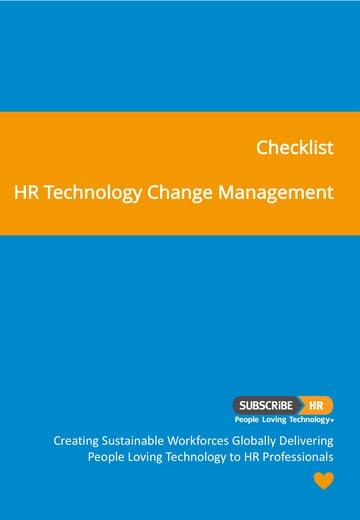 Subscribe-HR Checklist HR Technology Change Management Checklist