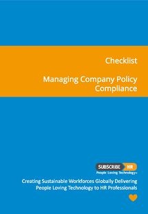 Subscribe-HR Workplace Policy Procedure Compliance