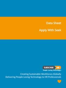 Subscribe-HR Data Sheet SEEK Integration