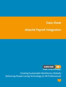 Subscribe-HR Data Sheet Attache Payroll Integration