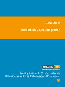 Subscribe-HR Data Sheet Indeed Job Board Integration