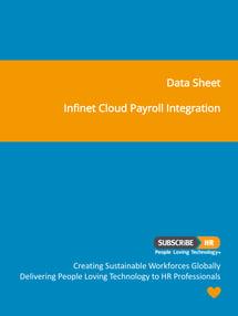 Subscribe-HR Data Sheet Infinet Cloud Payroll Integration