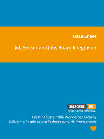Subscribe-HR Data Sheet Job Seeker and Jobs Board Integration