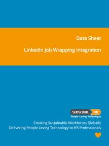 Subscribe-HR Data Sheet LinkedIn Job Wrapping Integration