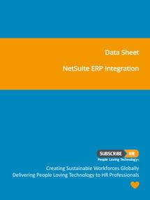 Subscribe-HR Data Sheet NetSuite ERP Integration