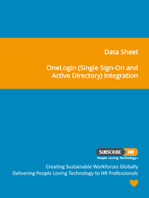 Subscribe-HR Data Sheet OneLogin Single Sign-On and Active Directory Integration