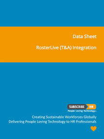 Subscribe-HR Data Sheet RosterLive T&A Integration