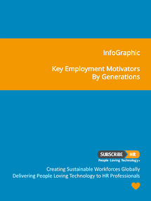 Subscribe-HR InfoGraphic Key Employment Motivators By Generations