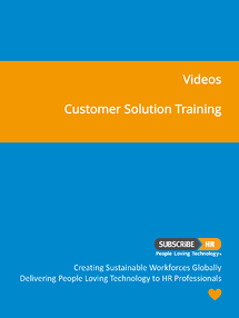 Subscribe-HR Resources Videos Customer Solution Training
