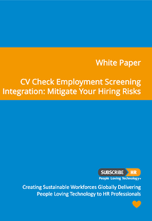 Subscribe-HR CV Check Integration White Paper