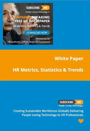Subscribe-HR White Paper HR Metrics Statistics Trends