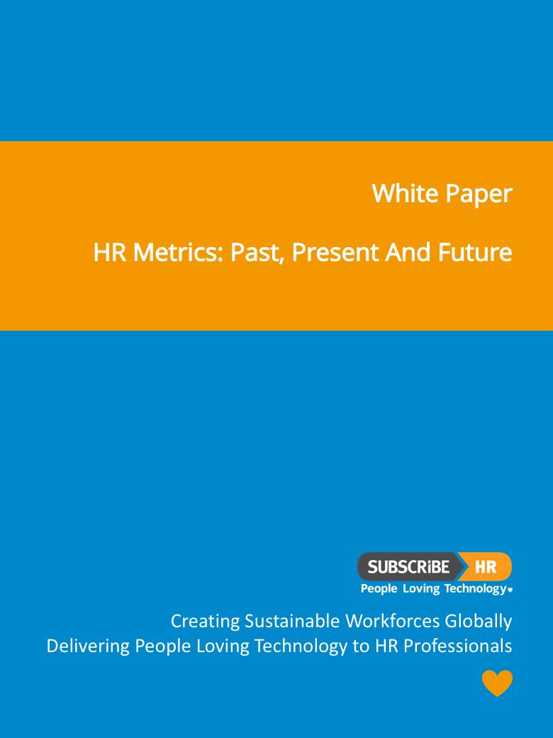 Subscribe HR White Paper New HR Metrics