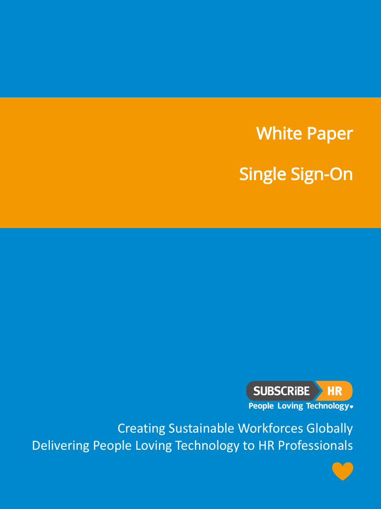 Subscribe-HR White Paper Single Sign-On