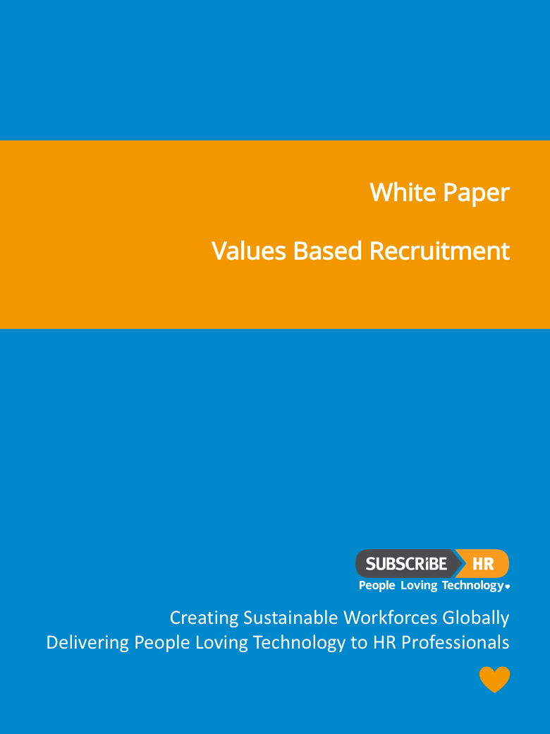 Subscribe-HR White Paper Values Based Recruitment