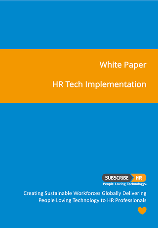 Subscribe-HR White Paper HR Tech Implementation