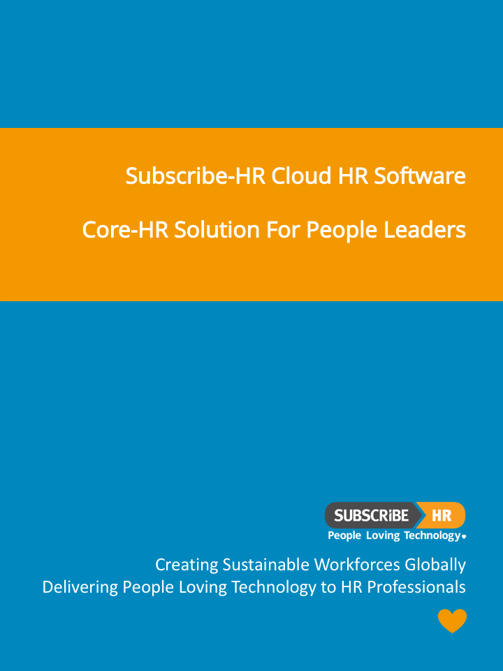 Subscribe-HR Cloud HR Software Core-HR-Solution