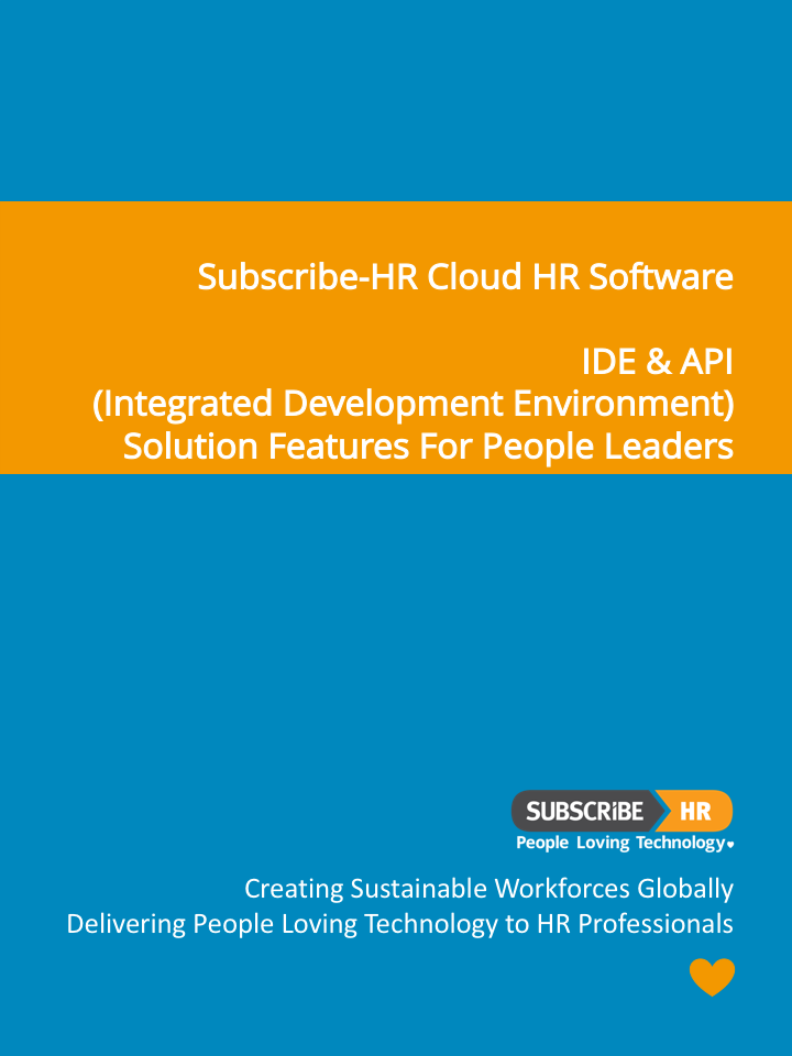 Subscribe-HR Cloud HR Software IDE & API Solution Features