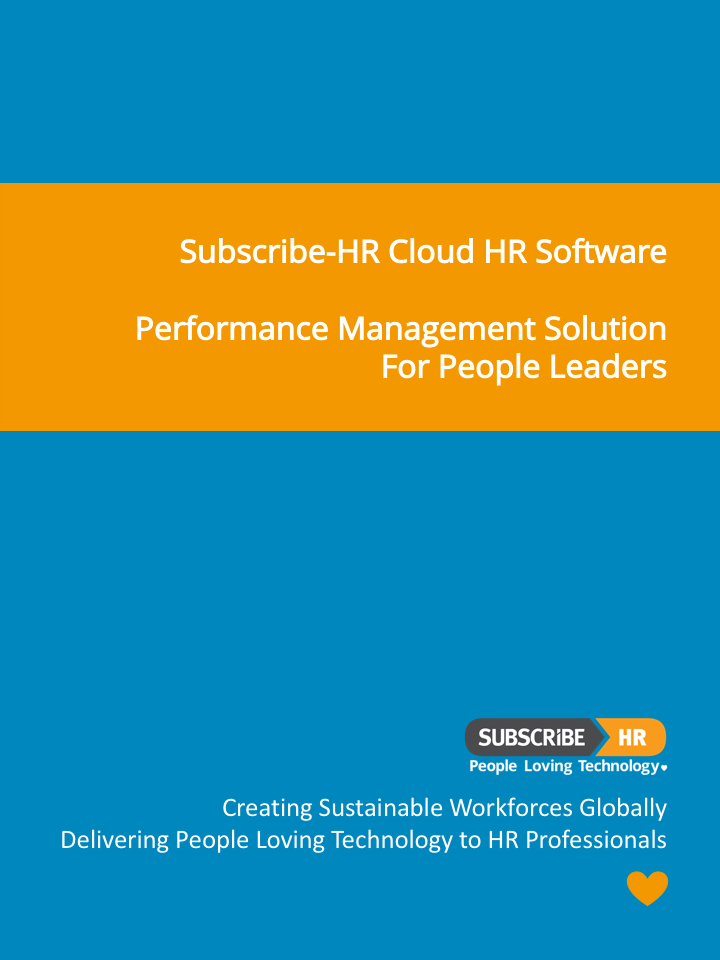 Subscribe-HR Cloud HR Software Performance Management Solution