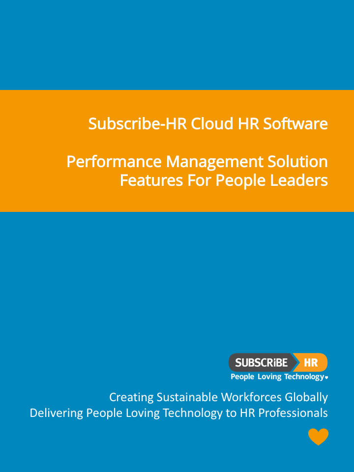 Subscribe-HR Cloud HR Software Performance Management Solution Features