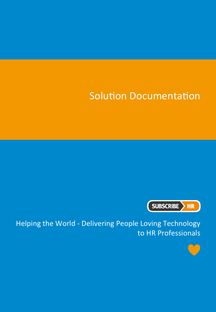 Subscribe-HR Human Resource Management Software Solution Documentation