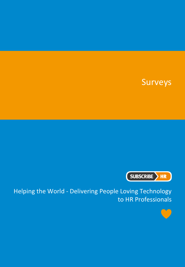 Subscribe-HR HR Software Surveys